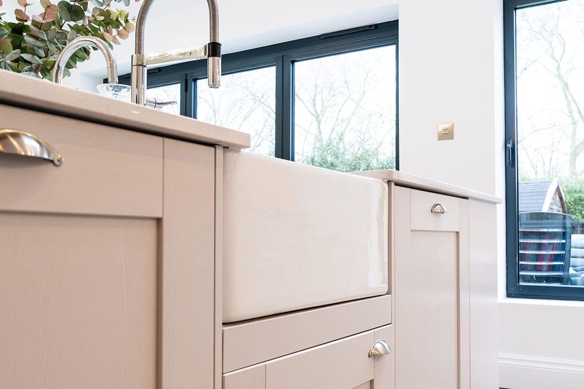 Shaker kitchen with Butler sink - Haus12, Newcastle