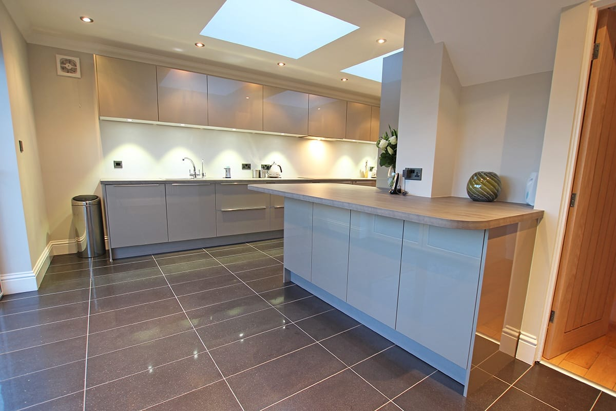 Luxury Laminate Worktop With Curves - Haus12, Newcastle